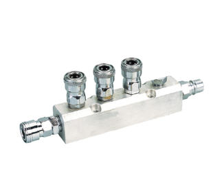 6PCS Manifold With Japan Type Quick Coupler